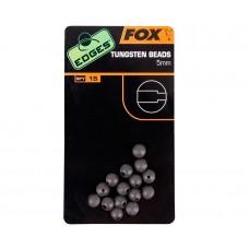 Бусина вольфрам FOX CAC489 Edges 5mm Tungsten beads 15шт