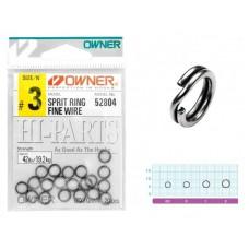 Кольца заводные Owner Split Ring Fine Wire