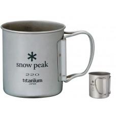 Кружка походная титановая Snow Peak MG-041FHR Titanium Single Wall 220 Mug