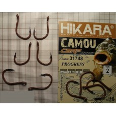 Крючок Hikara Camou BR Carp Progress