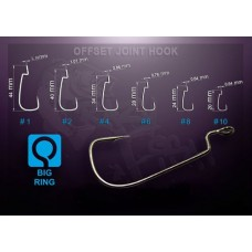 Крючок офсет Crazy Fish Offset Joint Hook