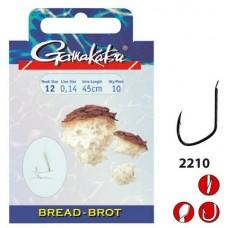 Крючок с поводком Gamakatsu BKD-2210G Bread Gold