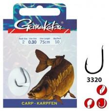 Крючок с поводком Gamakatsu BKD-3320G Carp Gold