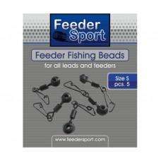 Застежка+вертлюг Feeder Sport Feeder Fishing Beads